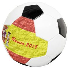 Personalized Spanish Flag Design Soccer Ball  $59.32  by biglnet  - cyo customize personalize diy idea