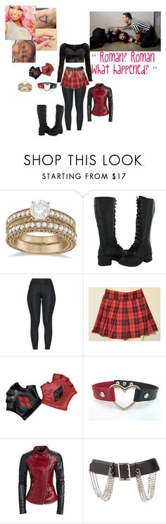 """""""👑 Maria Frost 👑- Finding Roman Injured"""" by iron-maiden-amy ❤ liked on Polyvore featuring Nicki Minaj, Allurez, Burberry, Motel, WWE and wweoc"""