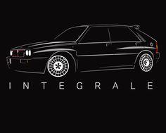 Lancia HF Integrale t shirt Delta Martini Classic NEW Rally Legent 4wd turbo  #SOLS #BasicTee