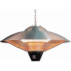 Hiland Electric Hanging Heat Lamp, Silver