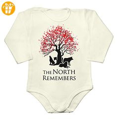 The North Remembers Bloody Tree And Wolves Design Baby Long Sleeve Romper Bodysuit Small - Baby bodys baby einteiler baby stampler (*Partner-Link)