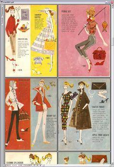vintage Barbie styl insert