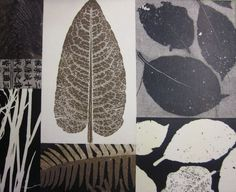 Mary Margaret Briggs - botanical monotype collage