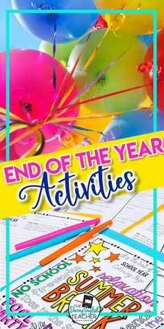 Celebrate the end of the school year in your middle school ELA or high school English classroom with these fun and engaging end of the year activities. These end of the year activities are perfect for the last day and last week of school. Middle School Activities, End Of Year Activities, Middle School Ela, End Of School Year, High School Classroom, English Classroom, High School English, Teacher Resources, Teaching Ideas