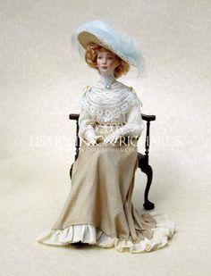 Victorian Dolls, Victorian Women, Vintage Dolls, Dollhouse Dolls, Miniature Dolls, Vintage Dollhouse, Blythe Dolls, Barbie Dolls, Lisa Johnson
