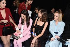Victoria Justice Emily Ratajkowski Alexa Chung and Christina Ricci attend the Altuzarra Runway Show during New York Fashion Week at Spring Studios on...