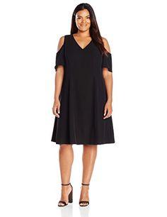 Calvin Klein Women's Plus Size Cold Shoulder Flutter Dres-$139.50
