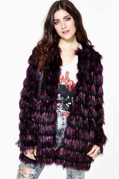 Mystical Faux Fur Coat | Shop Jackets + Coats at Nasty Gal