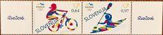 Slovenia - 2016 Rio Olympic Games, Biking & Canoeing, pair (MNH)