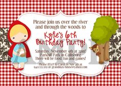 Little Red Riding Hood Birthday Invitation by CapturedbyJessPrints, $10.00