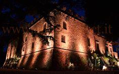 ALMA Project @ Castello il Palagio - Lighting - Castle facade amber 2