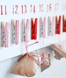 Natale Calendari dell'Avvento fai da te - 70 e più idee - 54