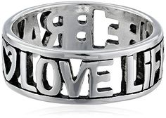 Sterling Silver Love Life Be Brave Cut Out Ring Size 8 >>> Read more  at the image link.Note:It is affiliate link to Amazon.