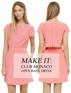 All Style and All Substance: Make it: Open Back Dress