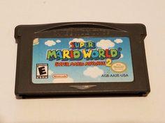 Super Mario World Super Mario Advance 2 Nintendo GameBoy Advance Video Game Boy…