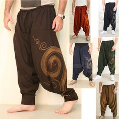 Objective Erc65 Gypsy Hippie Aladdin Baggy Genie Hammer Tribal Trouser Women Menpants Choice Materials Clothing, Shoes & Accessories Women's Clothing