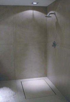 Banheiro - Cimento Queimado - Ralo linear