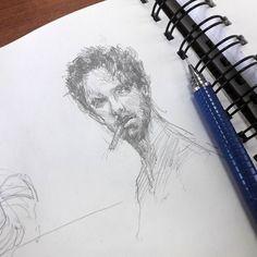 Нет девочки это не тот и даже не этот. Просто набросок человека.  #drawing #illustration #portrait #sketch #pencil #sketchbook #art #artwork #painting #eskiz #topcreator #портрет #рисунок #карандаш #набросок #эскиз