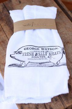 Farmhouse Pig Flour Sack Towel