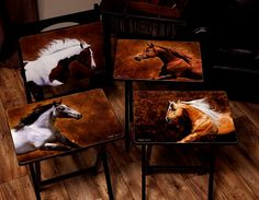 Rustic Coffee Tables and Rustic End Tables Rustic Coffee Tables, Rustic Table, Rustic Decor, Staging Furniture, Painted Furniture, Horse Lamp, Black Forest Decor, Tv Trays, Western Furniture