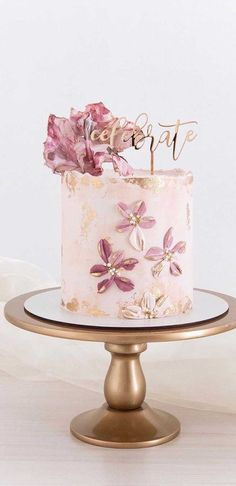 These latest wedding cakes are the latest instragram wedding cake trend from fabulous artist cake designers. Whether concrete wedding cake, aged stone wedding cake,. Beautiful Cake Designs, Gorgeous Cakes, Pretty Cakes, Cute Cakes, Amazing Cakes, Elegant Birthday Cakes, Pretty Birthday Cakes, Artist Cake, Cake Trends