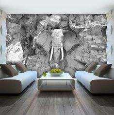 Statt Elefant im Porzellanladen, Elefant im Wohnzimmer! 56 Of The Best Eclectic decor Ideas That Always Look Great – Statt Elefant im Porzellanladen, Elefant im Wohnzimmer! Art Mural 3d, 3d Wall Murals, 3d Wall Art, Mural Painting, 3d Wallpaper Design, Wall Art Wallpaper, Designer Wallpaper, Floor Design, House Design