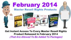 Master Resell Rights February 2014