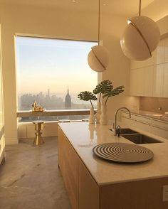 Something Special / Ultra Luxury Apartment Interior Design Ideas New York City Home Decor Dream Home Design, My Dream Home, Home Interior Design, Interior Architecture, Interior And Exterior, Interior Decorating, House Design, Contemporary Architecture, Modern Interior