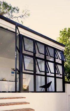 Windows at vintage Cape Town villa