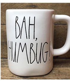 Funny RAE DUNN Magenta BAH HUMBUG! Holiday Christmas Tea Coffee Mug Gift Cup    eBay