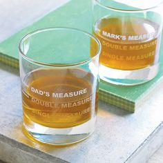 Personalised Drinks Measure Glass from notonthehighstreet.com