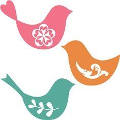 Dress Silhouette Stencils | Silhouette - birds for S's room?