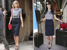 """Taylor Swift e Amal Clooney, Emma Watson e Jennifer Lawrence, Kim Kardashian e Jennifer Lopez… O que essas duplas têm em comum? A maneira como se vestem. Em certos momentos, elas parecem dividir o mesmo guarda-roupa. Confira agora o raio-X de estilo e escolha a sua para """"roubar"""" o look"""
