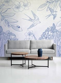 "Officinarkitettura® Collection ""Botanika"" on wallpaper or thin laminated porcellain #architecture #art #design #wallpaper  www.officinarkitettura.it"