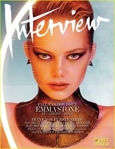 Magazine photos featuring Emma Stone on the cover. Emma Stone magazine cover photos, back issues and newstand editions. Magazine Vogue, Fashion Magazine Cover, Fashion Cover, Magazine Covers, Model Magazine, Glamour Magazine, Blade Runner, Emma Stone Interview, Eyes