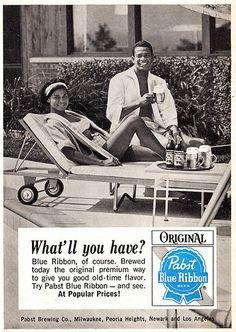 Pabst Blue Ribbon Beer (1965)