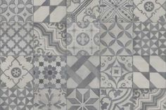 Buy 1920 Grey tiles from Tons of Tiles with Next Day UK Delivery, Samples Available from only inc P&P. Grey Floor Tiles, Grey Flooring, Kitchen Flooring, Kim's Kitchen, Kitchen Ideas, Patterned Kitchen Tiles, Grey Patterned Tiles, Hearth Tiles, Fireplace Tiles