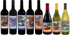 Classic Car Wines by BR Cohn Winery feature painted label artwork inspired by Bruce Cohn's car collection