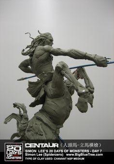 Simon Lee Spiderzero Sculptor Pacific Rim Kaiju Creature Designer Concept Artist - BigBlueTree.com - Creature Designer SpiderZero Big Blue T...