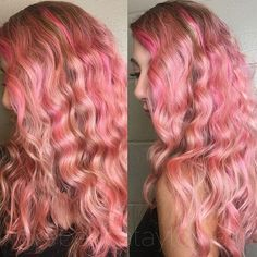 Candy Waves  #colorfulhair #pastelhair #wavyhair #hair #haircolor #hairstyle
