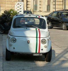 Fiat 500 (cinquecento)   seen today in Corigliano d'Otranto (Puglia)