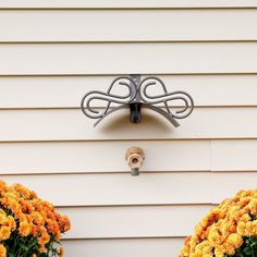 Garden Hose Hanger Metal Reel Decorative Wall Mount With Spray Nozzle For Hose #QualityChoices