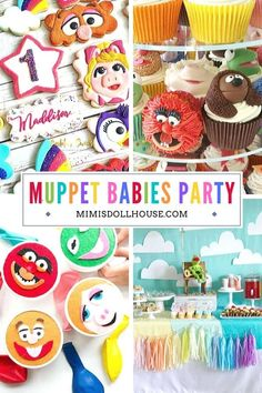 Muppet Babies Party Supplies and Ideas for a Birthday!    These Muppet Babies birthday party ideas will make your dreams come true in true muppet fashion. From simple to extraordinary, these party supplies and food ideas will inspire your creativity and turn your party into a smash hit!#muppetbabies #kermit #misspiggy #birthday #partyideas #muppetparty Birthday Party Treats, 1st Birthday Party For Girls, 1st Birthday Party Decorations, Baby Party, Baby Birthday, Disney Parties, Mickey Mouse Parties, Muppet Babies, Kermit