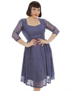 'Lisette' Dusty Lavender Lace Party Dress