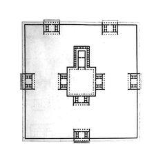 Jean-Nicolas-Louis Durand, Recueil et parallèle des édificies de tout genre anciens et moderns, 1801, Temple de Salomon  #durand #squarespaces #temple #salomon