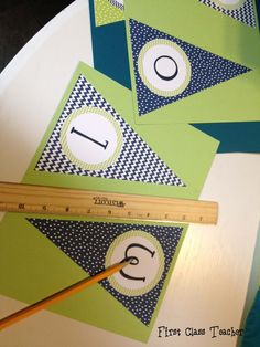 Can use scrapbook paper I like and just print the letter circles