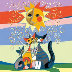 Rosina Weichtmeister, Austria artist famous for her cat paintings. Tried to find everywhere in Vienna, ha