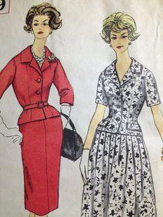 Vintage Pattern Simplicity 3279 Slenderette Suit Skirt Mad Men Jackie Kennedy 1960s Bust 34 on Etsy, $14.00