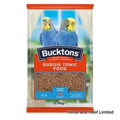 Bucktons Budgie Tonic Food 12 75kg Bucktons Budgie Tonic Food has an appealing orange aroma that attracts birds in for a tasty meal.