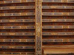 Plafond à solive à la française, château de Beauregard, cabinet des Grelots